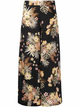 Liu Jo брюки широкого кроя с цветочным принтом FA0429T4031