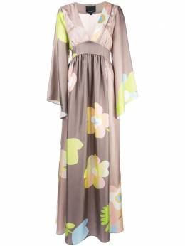 Cynthia Rowley платье-кимоно Yvonne с цветочным принтом 19F1DR08SK