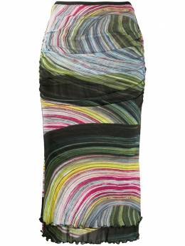 Dvf Diane Von Furstenberg юбка с абстрактным принтом 13925DVF