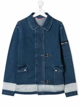 Fay Kids джинсовая куртка с пряжками 5M2070MD210