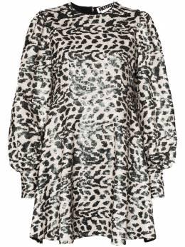 Rotate леопардовое платье мини Alison с пайетками 900609