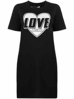 Love Moschino платье-футболка с логотипом W584714E2124
