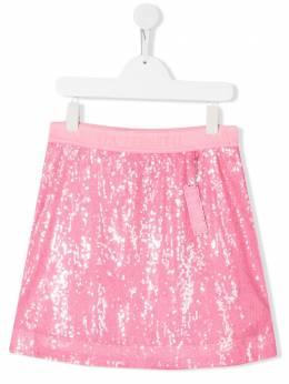 Alberta Ferretti Kids юбка мини с пайетками 022168T