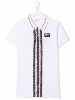 Burberry Kids рубашка-поло с логотипом 8025994