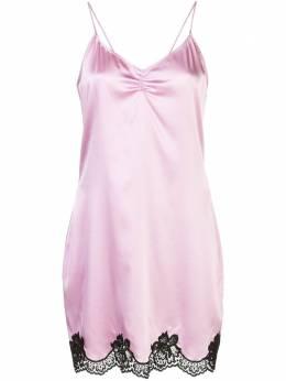 Fleur Du Mal платье-комбинация с кружевом SL0043544