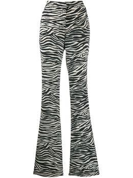 10 Crosby Derek Lam расклешенные брюки с зебровым принтом TR01112ZV
