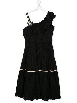 Monnalisa платье с вышивкой 495906AB5013