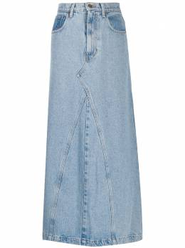 Nanushka юбка Mae с завышенной талией MAELIGHTBLUEDENIM
