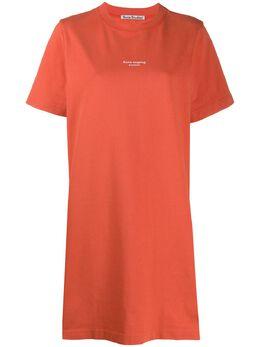Acne Studios платье-футболка с логотипом A20191