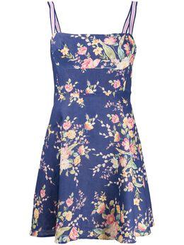 Zimmermann платье мини А-силуэта Zinnia с цветочным принтом 7380DZIN