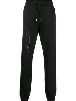 Philipp Plein спортивные брюки с принтом Skull S20CMJT1482PJO002N