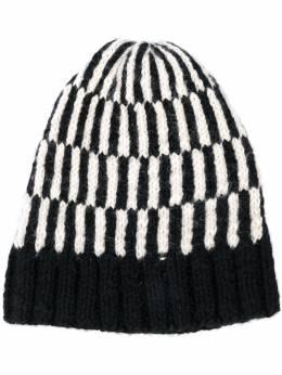 Voz вязаная шапка бини с геометричным узором 86428106