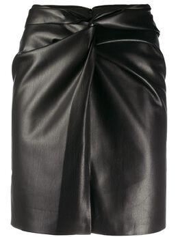 Nanushka юбка Milo с узлом MILO