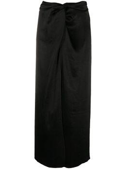 Nanushka атласная юбка Samara WSK00099