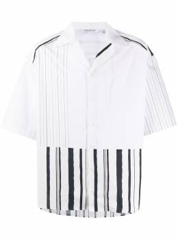 Neil Barrett полосатая рубашка с открытым воротником BCM1339CN146C