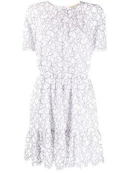 MICHAEL Michael Kors кружевное платье мини со сборками MS08ZM3E3Z