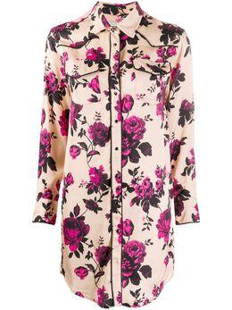 Laneus рубашка с цветочным принтом ABD009