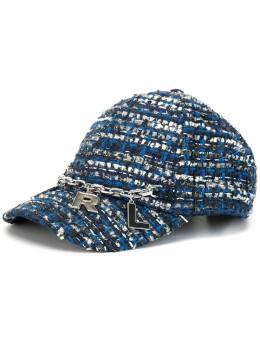 Karl Lagerfeld твидовая бейсбольная кепка 201W3410900