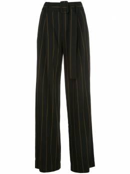 Vince полосатые брюки с завышенной талией V654021776