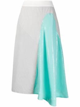 Atu Body Couture юбка асимметричного кроя с контрастной вставкой ATS2046
