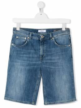 Dondup Kids джинсовые шорты с эффектом потертости BP253DS0107BAH9
