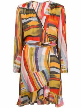 Patrizia Pepe платье с абстрактным принтом и запахом 2A0267A7F4