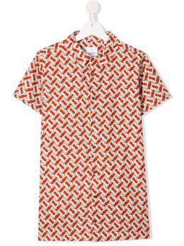 Burberry Kids рубашка с монограммой 8026358