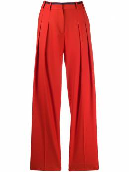 Victoria, Victoria Beckham брюки прямого кроя со складками 2120WTR000516B