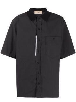 Maison Flaneur рубашка с контрастной нашивкой 20SMUSH720TE131