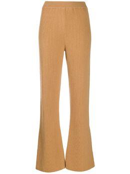 Nanushka расклешенные брюки в рубчик LEBATOFFEECASHMEREBLENDRIB