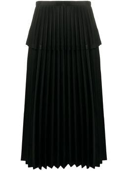 Comme Des Garcons Noir Kei Ninomiya ярусная плиссированная юбка 3ES015S20