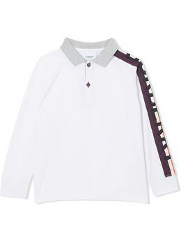Burberry Kids рубашка-поло с логотипом 8020483