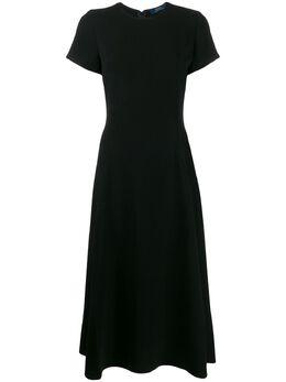 Polo Ralph Lauren расклешенное платье с короткими рукавами 211765505