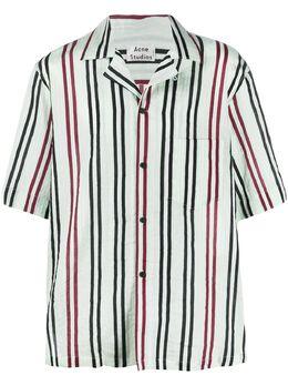 Acne Studios полосатая рубашка с короткими рукавами BB0203