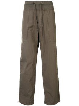 James Perse брюки карго прямого кроя с кулиской MUD1315