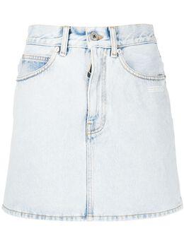 Off-White джинсовая юбка с логотипом OWYF005S20DEN0024500