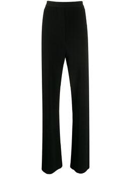 Nanushka трикотажные брюки с завышенной талией TATUMBLACKRIBKNIT