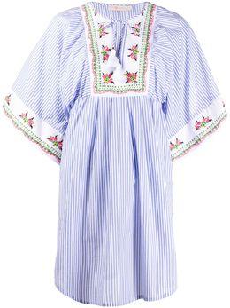 Tory Burch платье-туника в полоску 73842