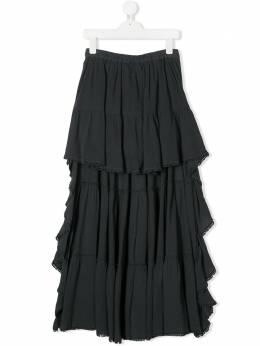 Dondup Kids ярусная юбка с оборками YG114TY0034GPTD