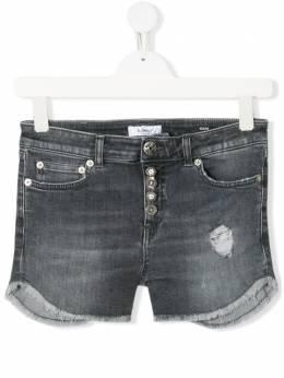 Dondup Kids джинсовые шорты с эффектом потертости YP319BDSE251GAI8
