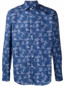 Canali рубашка с цветочным принтом L777GL00915