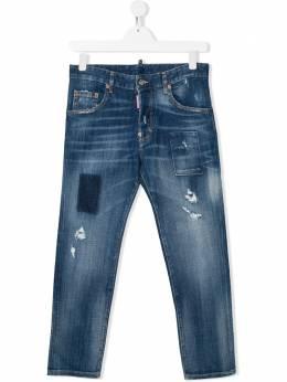 Dsquared2 Kids джинсы прямого кроя с эффектом потертости DQ03NPD00YHT
