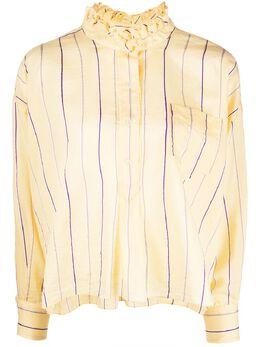 Isabel Marant Etoile полосатая рубашка Olena с оборками CH026220P023E