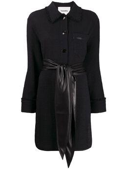 Nanushka платье-рубашка с поясом WSB00127