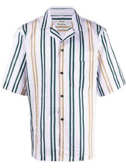 Acne Studios полосатая рубашка из сирсакера BB0203