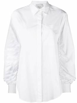 3.1 Phillip Lim ruched long-sleeve shirt P1812081COT