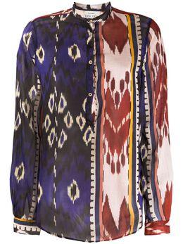 Forte_Forte рубашка с абстрактным принтом 7302