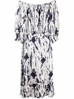 Essentiel Antwerp платье миди с открытыми плечами VERDE