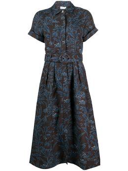 Rebecca Vallance платье-рубашка длины миди с цветочным принтом 19041563