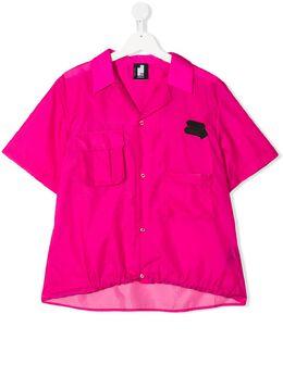 Cinzia Araia Kids рубашка с нашивкой-логотипом CA1141A